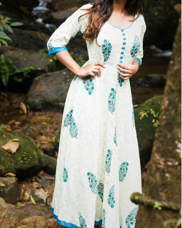 Blue Floral Maxi Dress 2
