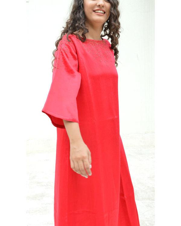 Red Dana A-line Dress 1