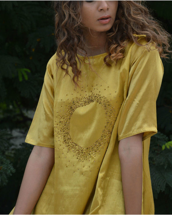 Bead canary high low tunic 2