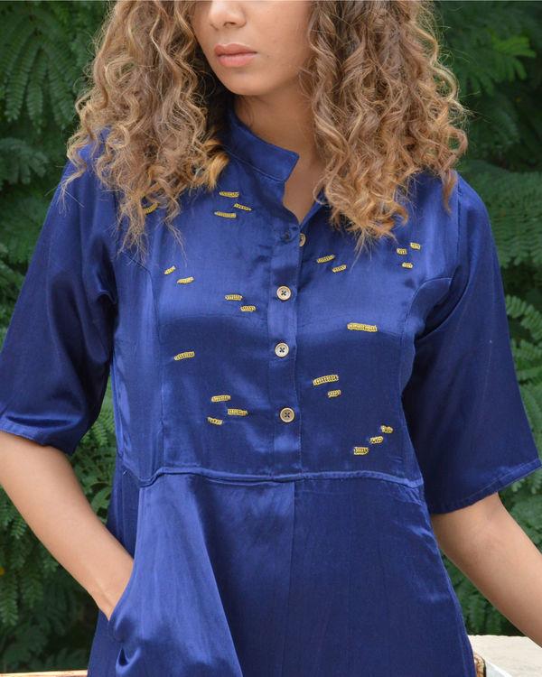 Navy dash shirt dress 2