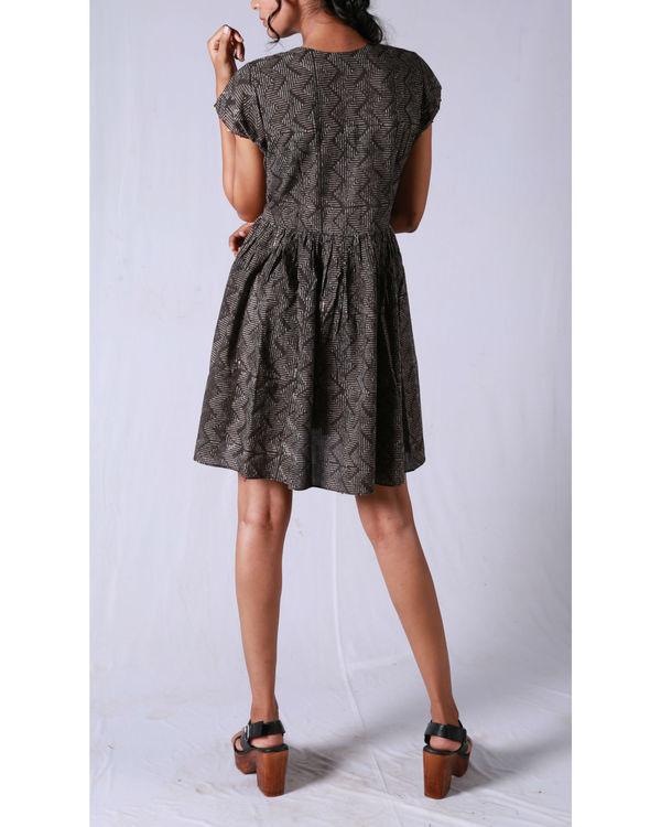 Tan line gathered dress 3