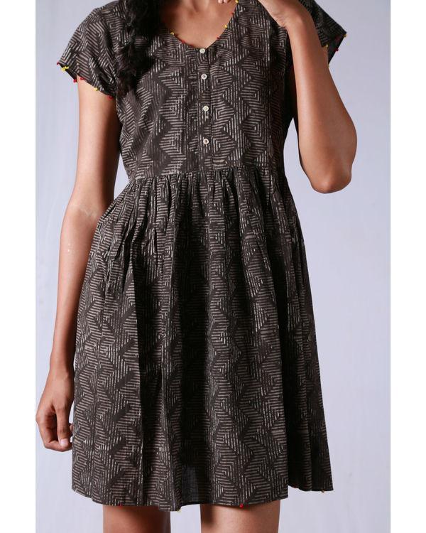 Tan line gathered dress 1