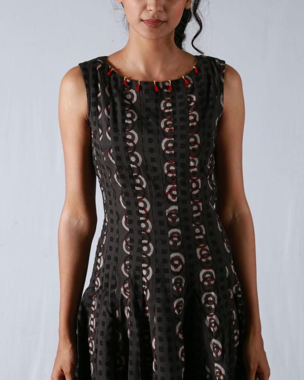 Tan flare high-low dress 1