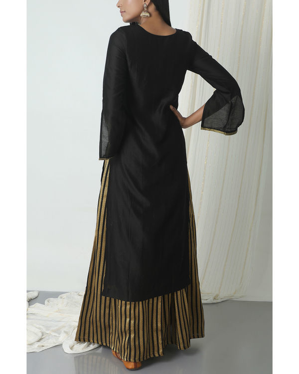 Gold and black skirt kurta set 2