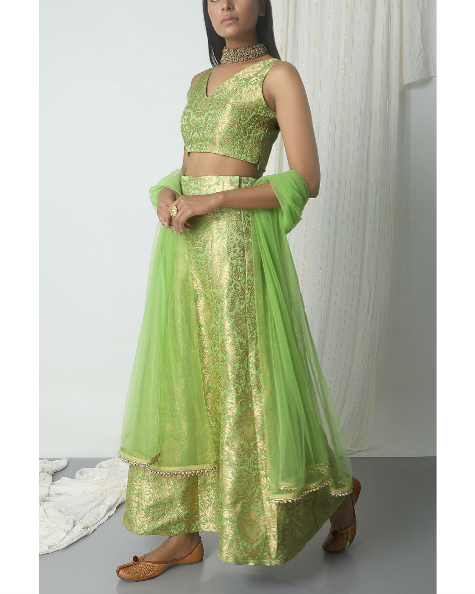 Image result for green brocade gown