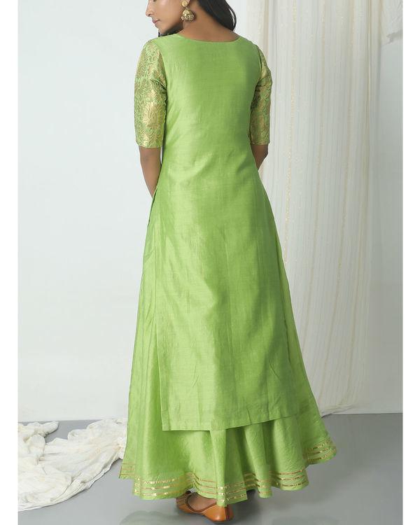 Chartreuse green chanderi gota set 2