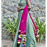 Thumb girija brocade lehenga set 6