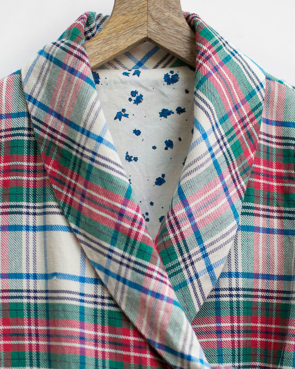Christmas checks dress jacket 1