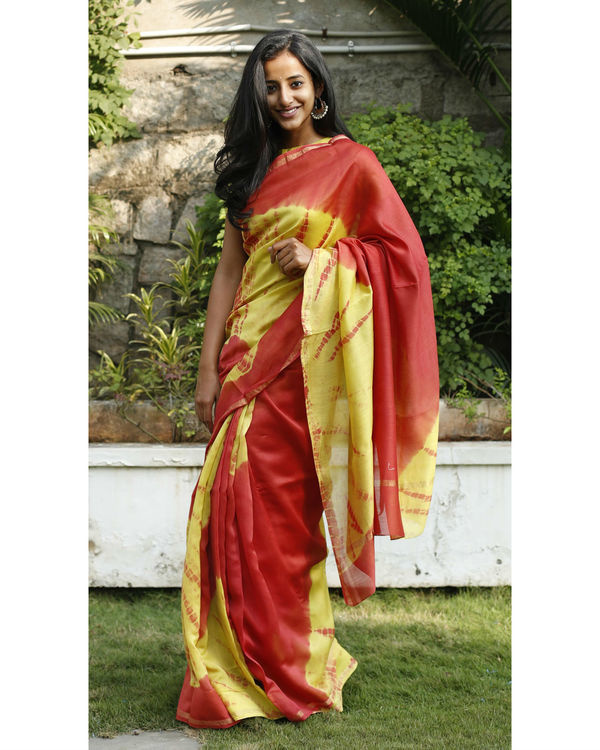 Sunrise hues chanderi sari 3