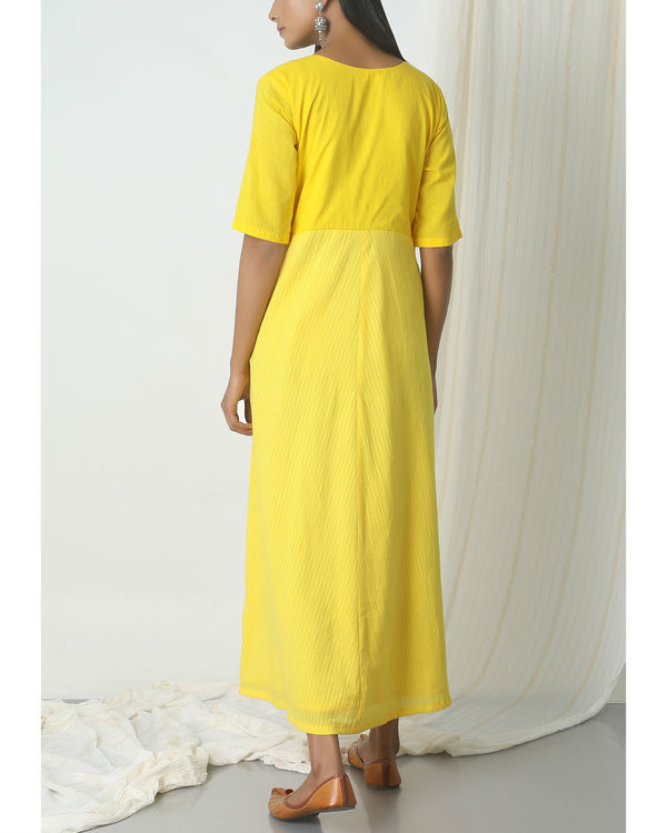 Yellow stripe kurta dress 2