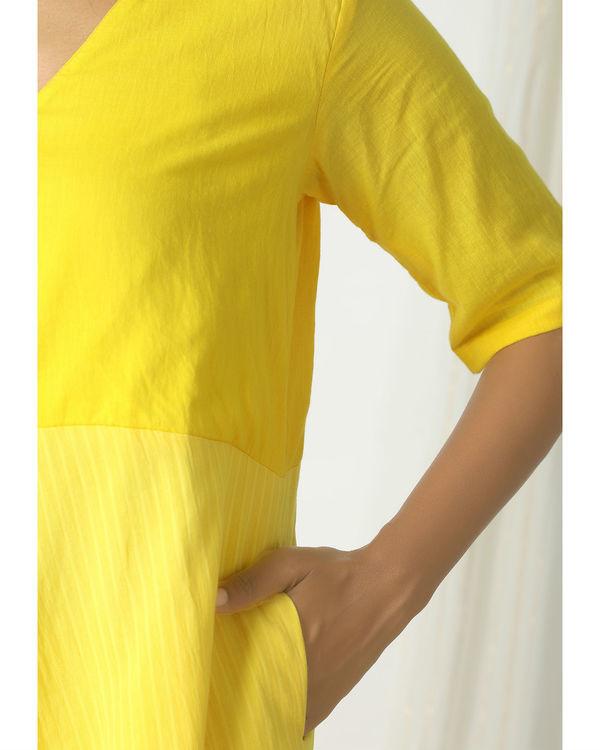 Yellow stripe kurta dress 1