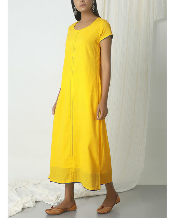 Yellow box kurta dress 3