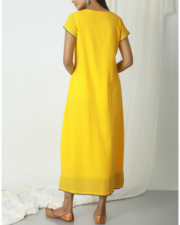 Yellow box kurta dress 2