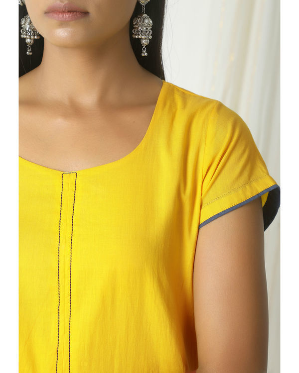 Yellow box kurta dress 1