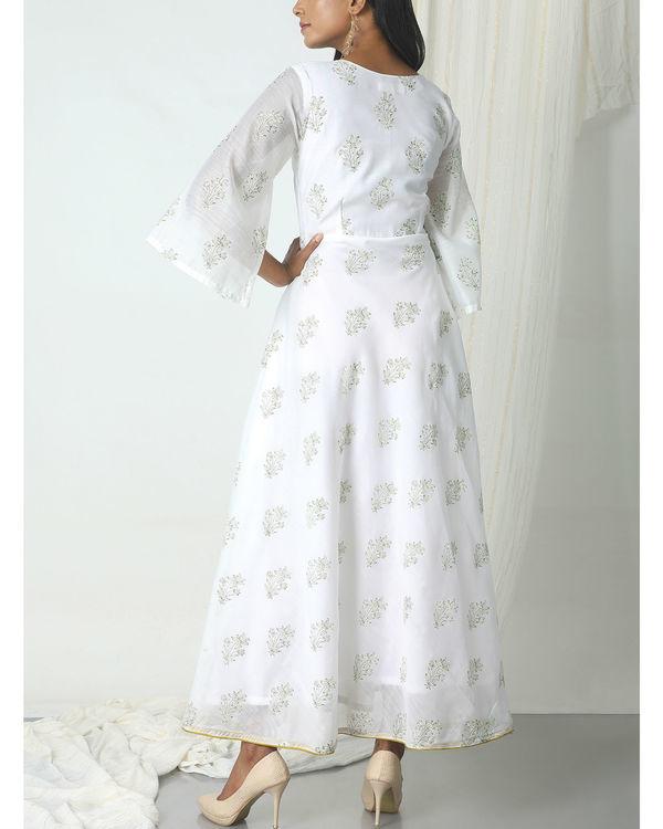White floral print dress 2
