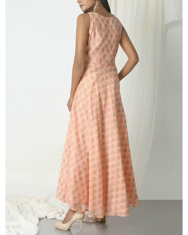Peach floral print dress 2