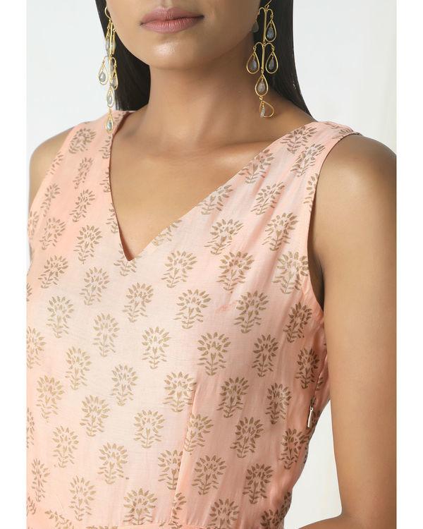 Peach floral print dress 1