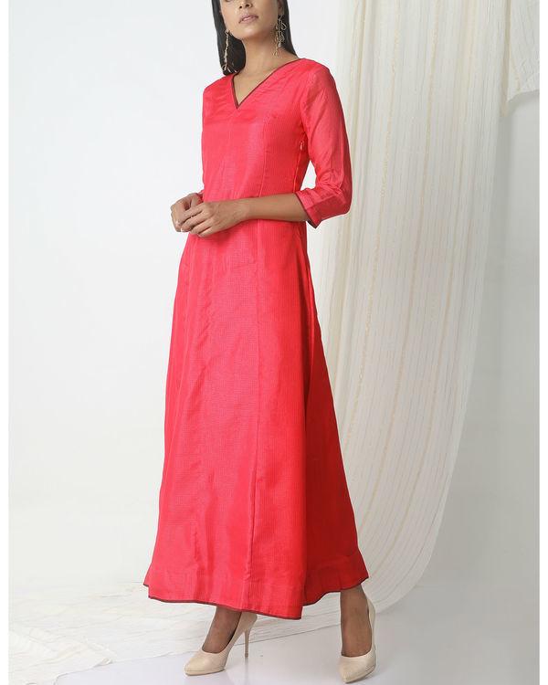 Pink kota silk dress 3