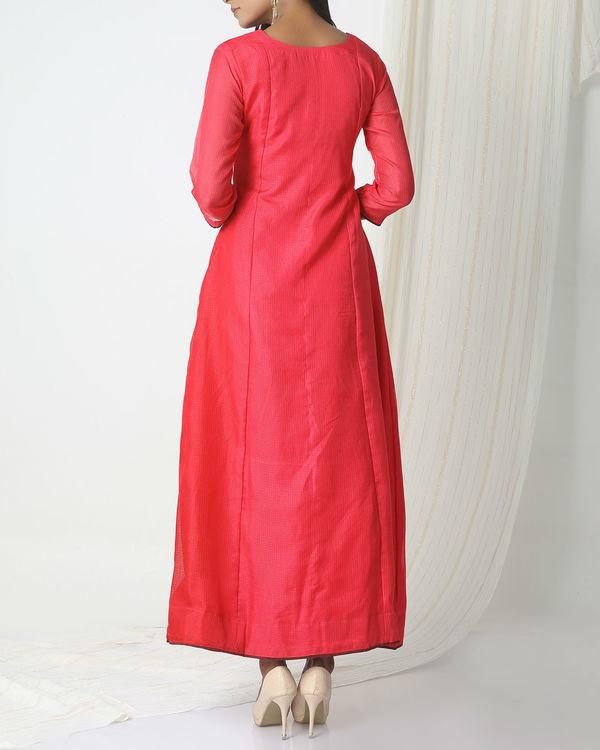 Pink kota silk dress 2
