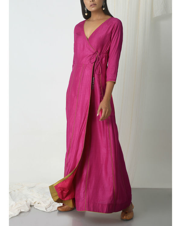 Pink angrakha dress 4