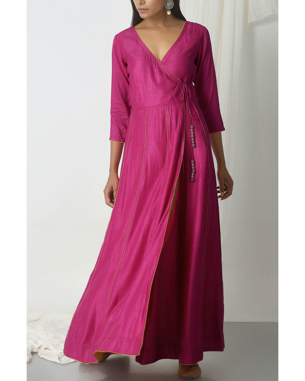 Pink angrakha dress 3