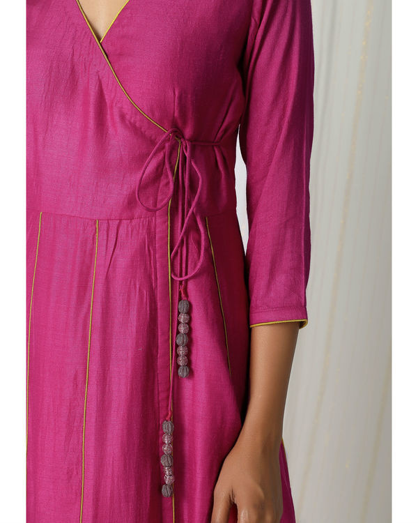 Pink angrakha dress 1