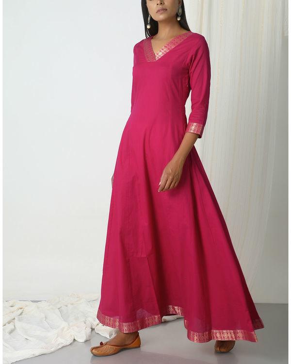 Pink golden border dress 3