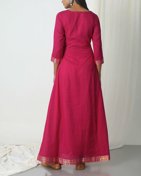 Pink golden border dress 2