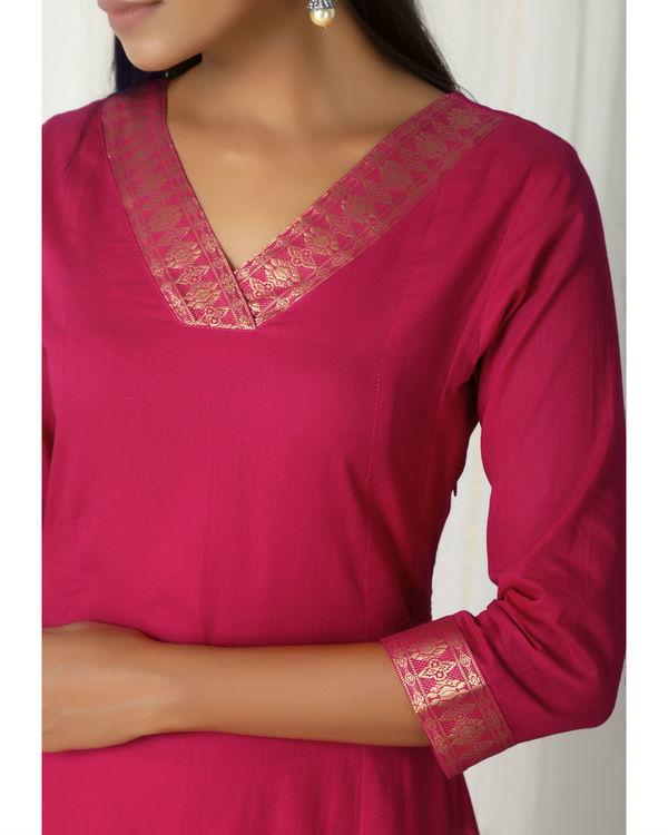 Pink golden border dress 1