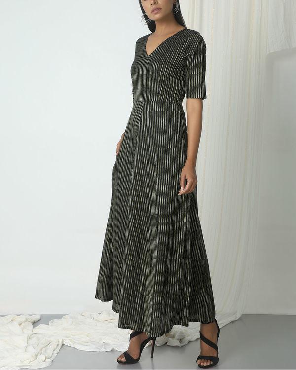 Black dots stripe dress 3