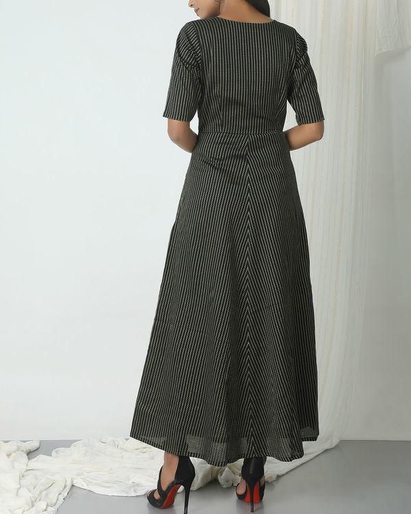 Black dots stripe dress 1