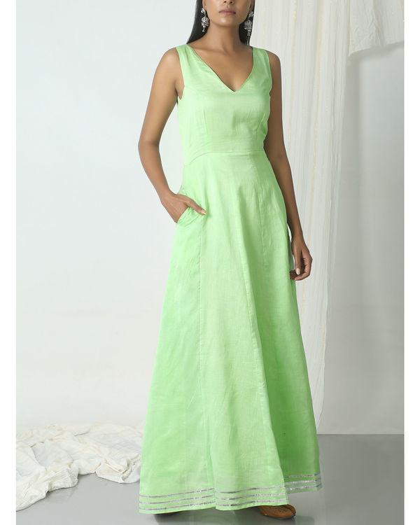 Mint green gota dress 2
