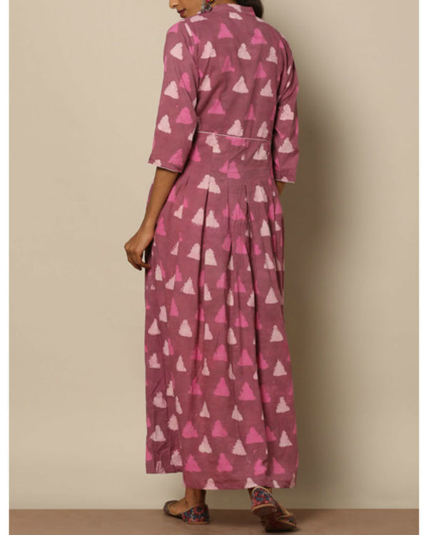 Pink geometric maxi 1