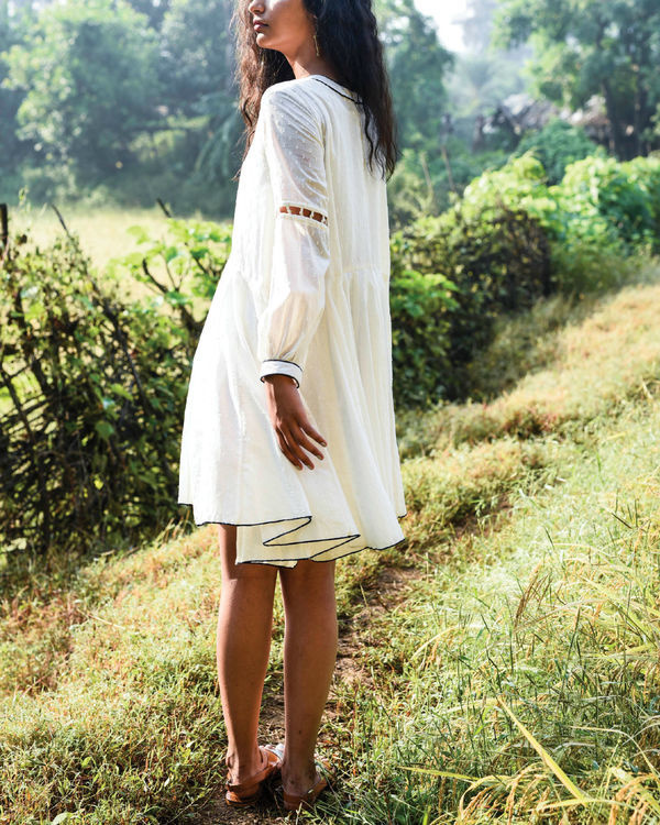 Ivory dago flared dress 2