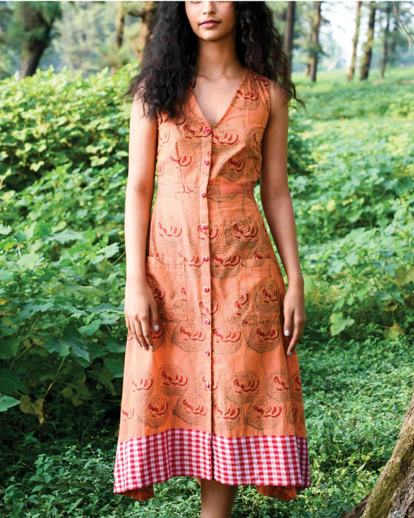 Pumpkin orange dochula dress 2
