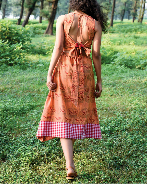 Pumpkin orange dochula dress 1