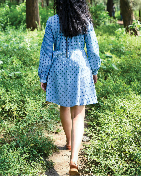 Siam blue punakha dress 2