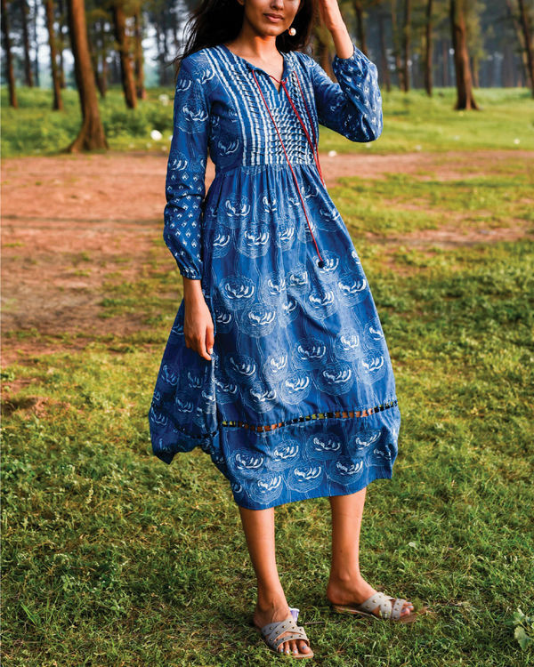 Zaffre blue peasant dress 3
