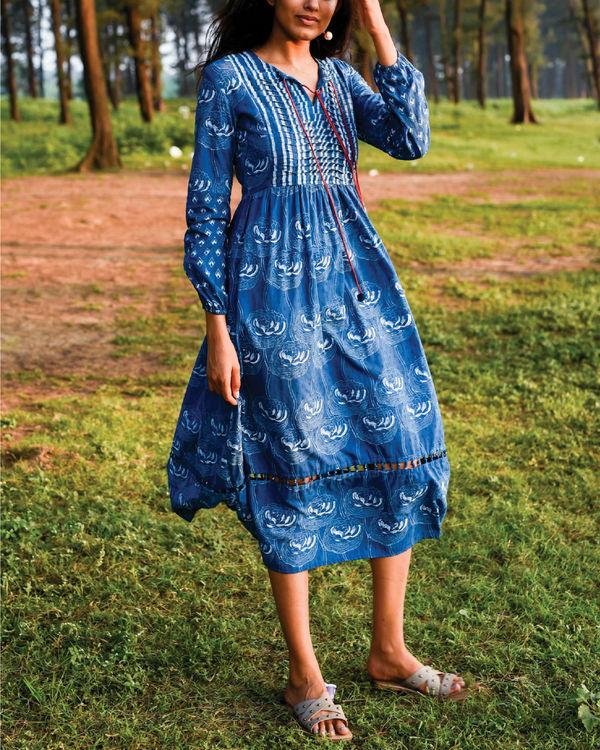 Zaffre blue peasant dress 3