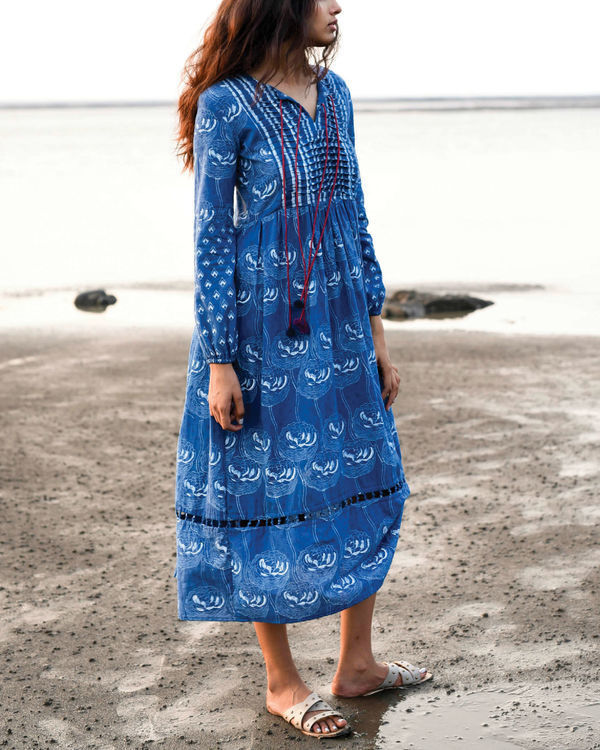 Zaffre blue peasant dress 2