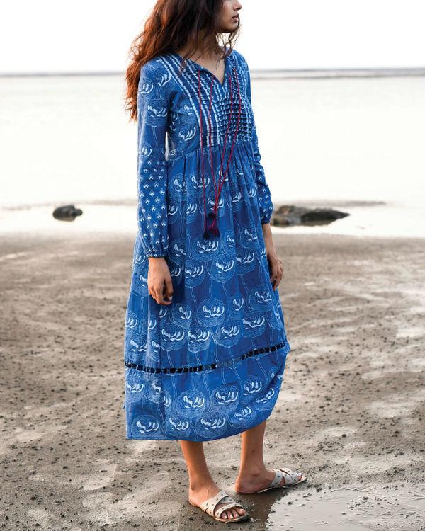 Zaffre blue peasant dress 2