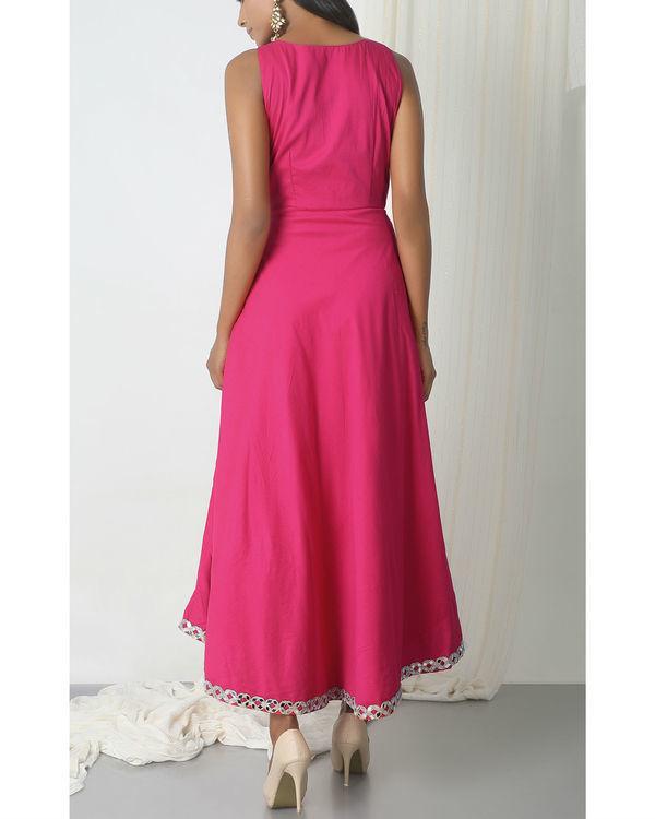 Pink asymmetric hem dress 2