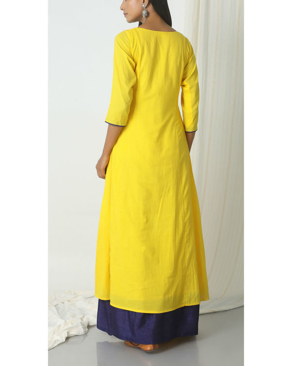Yellow blue peek-a-boo dress 2