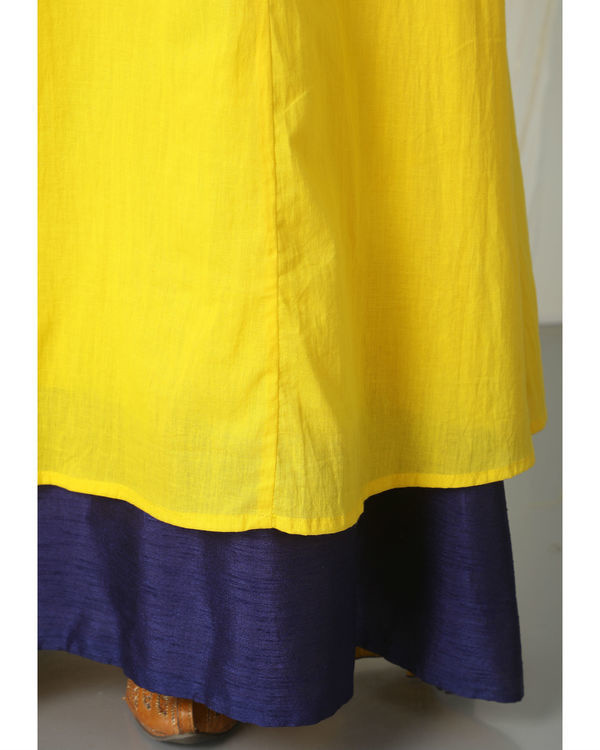 Yellow blue peek-a-boo dress 1