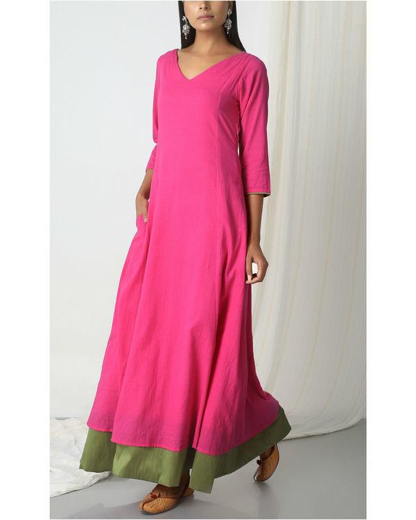 Pink green peek-a-boo dress 4
