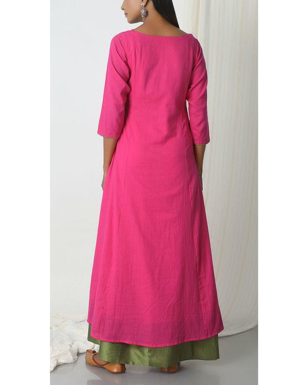 Pink green peek-a-boo dress 2