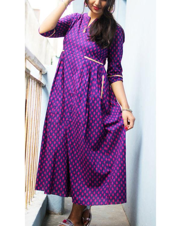 Purple and pink motif dress 2
