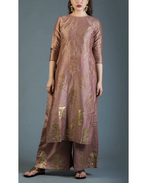 Regal pink kurta set 1