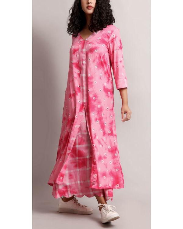 Pink floral kurta set 2