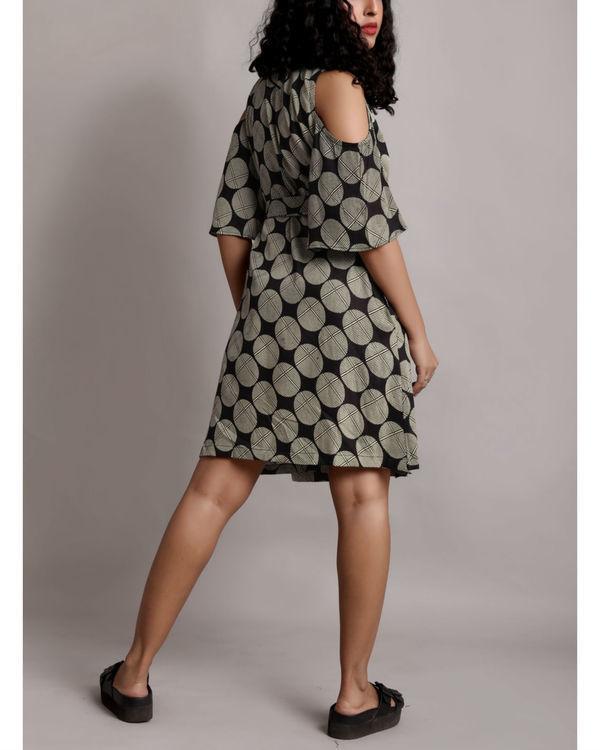Grey cold shoulder wrap dress 1